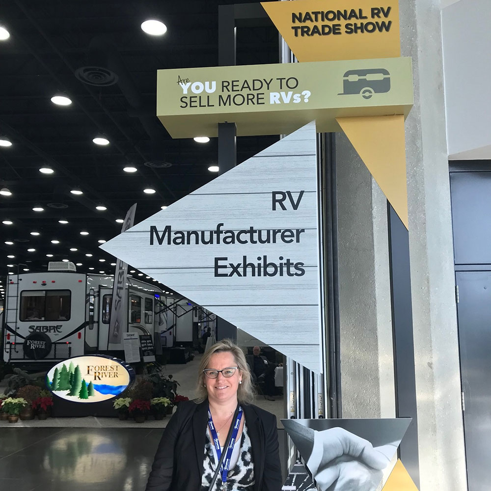 Louise Bayliss at National RV show
