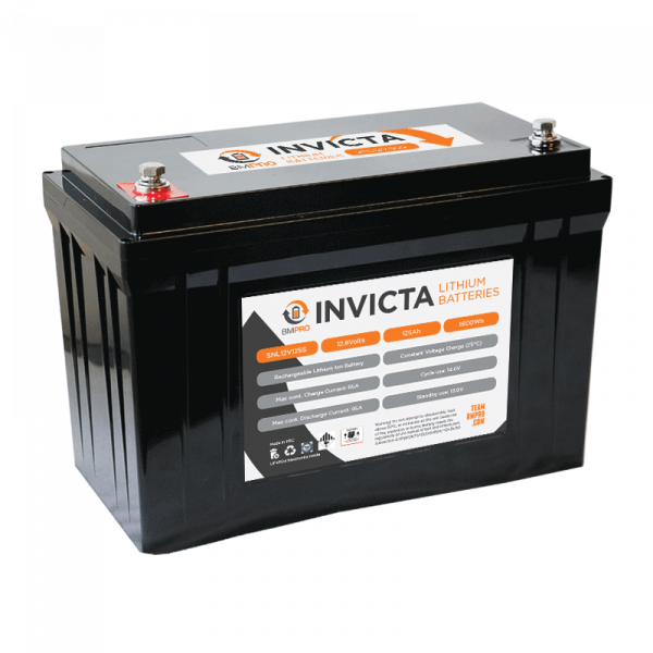 Invicta 12V lithium battery LiFePO4 125A