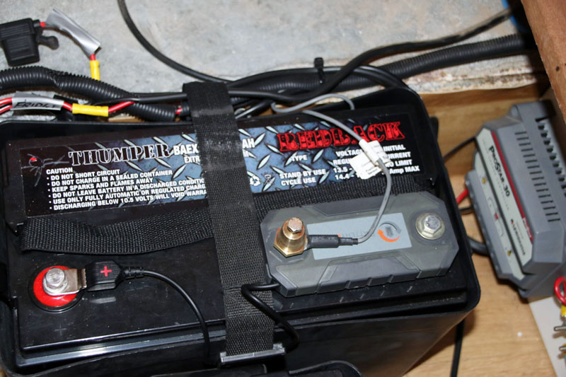 BatteryCheck mounted to the battery