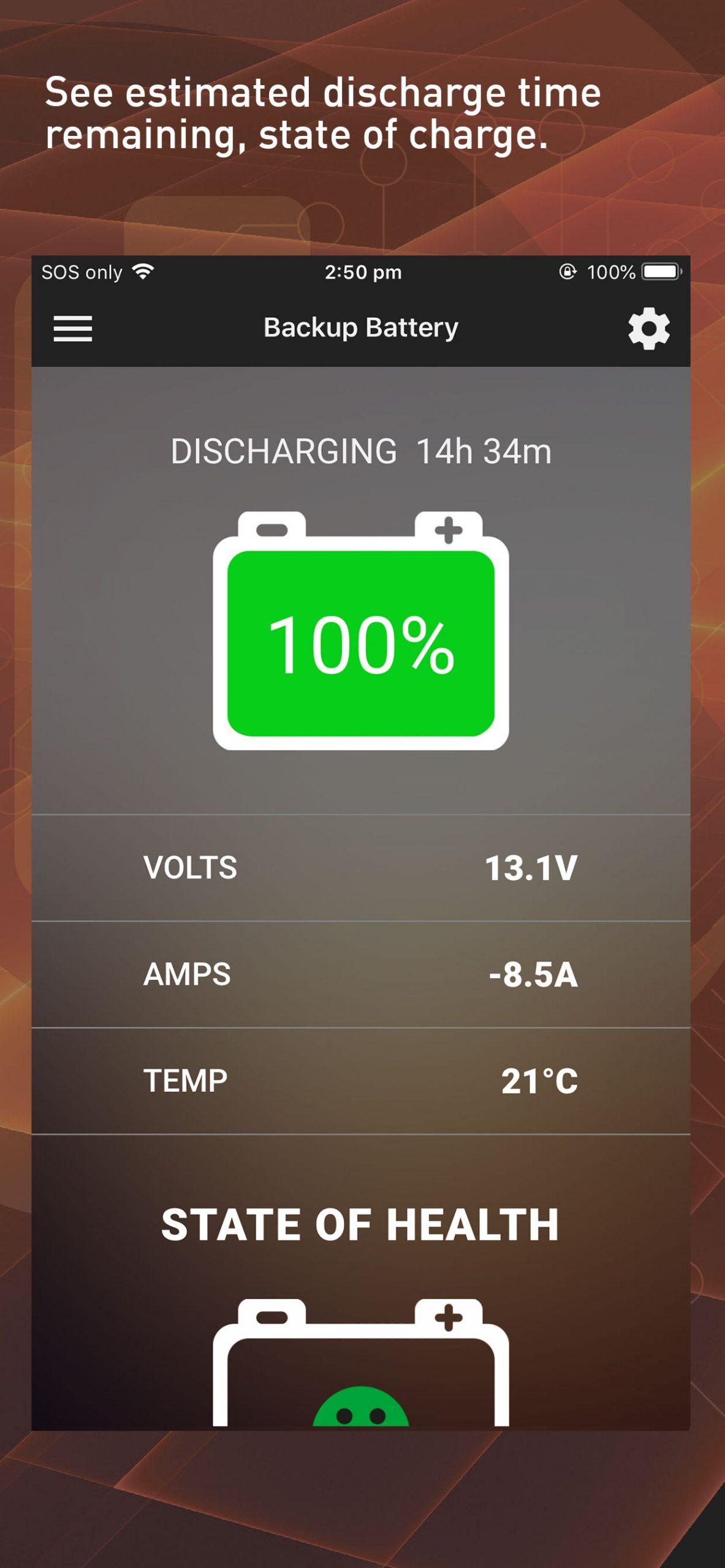 BatteryCheck100+PRO app