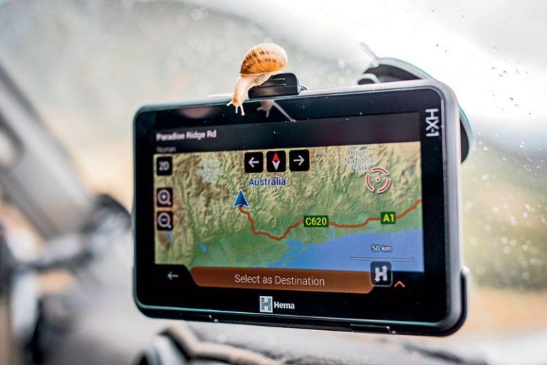 GPS navigation system for outback navigation