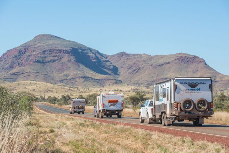 driving to Karijini National Park, the jewel in the Pilbara's crown