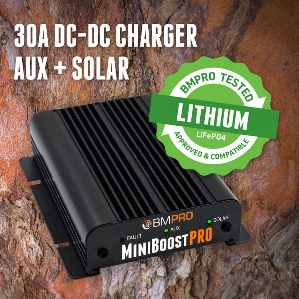 DC-MiniBoostPRO - Lithium DC-DC charger with solar input