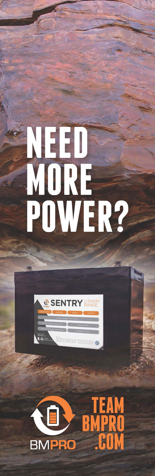 lithium rv battery BMPRO Sentry