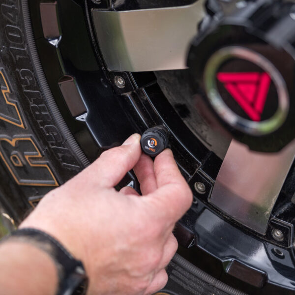 Tyre pressure monitoring sensor SmartPressure installed on the tyre