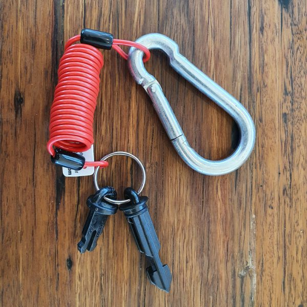 TrailSafe Caravan Breakaway Cable with two pins