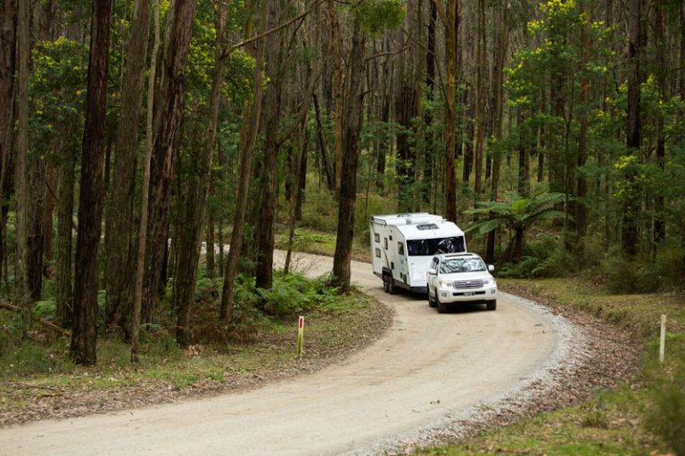 safe towing: caravan breakaway system battery charged
