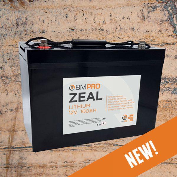 12V 100Ah Lithium Battery BMPRO Zeal