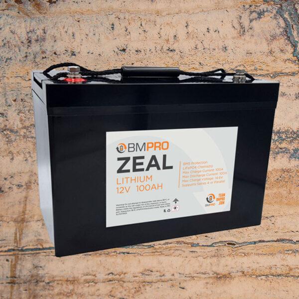 12V 100Ah Lithium Battery Zeal