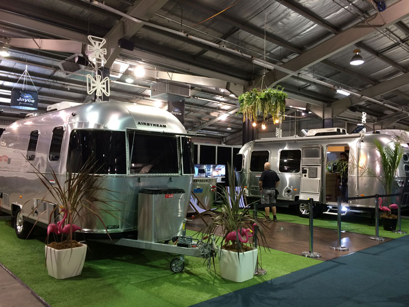Airstream at Jayco stand at Caravan Show 2019