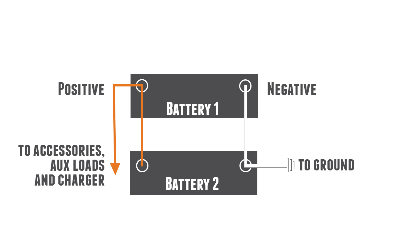 correct way to connect two lithium batteries in parallel