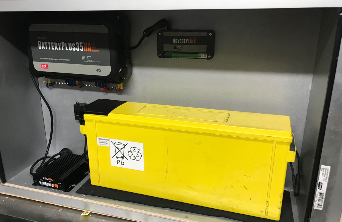 battery-in-a-battery-box-with-BMPRO-power-management-system-and-DC-DC-charger