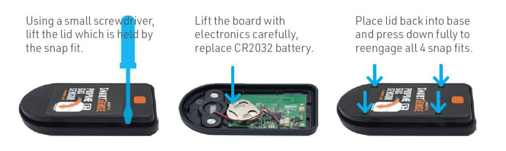How to replace the battery in SmartSense monitor?