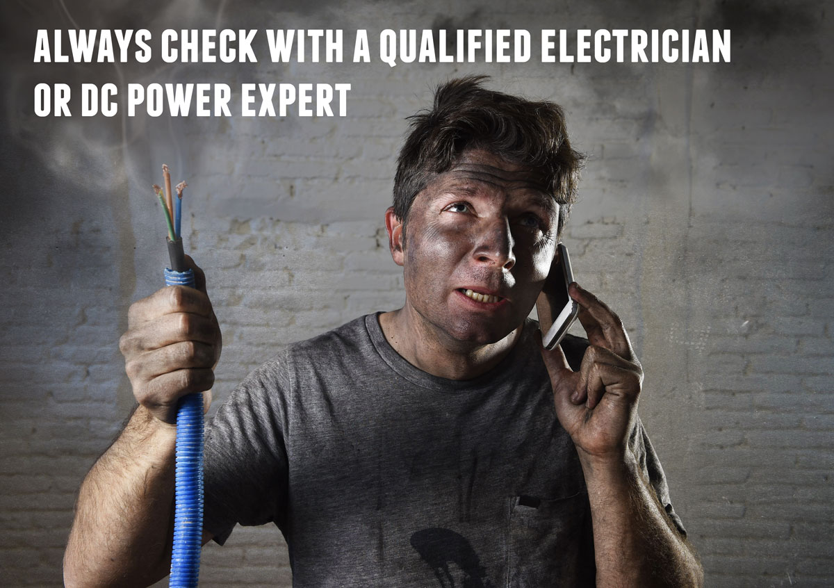 DIY install? if unsure check with the dc power experts