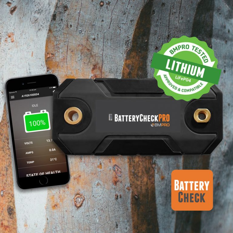 12V wireless battery monitor BatteryCheckPRO for high amperage applications