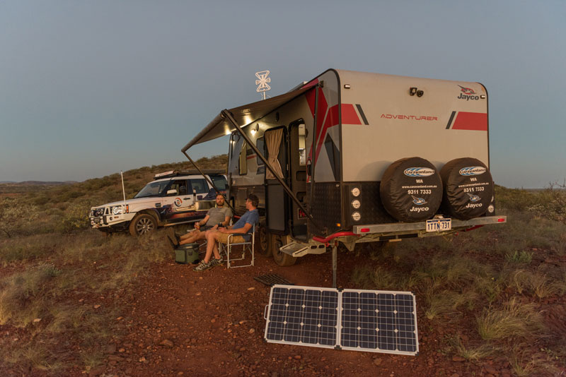 Going camping? Take solar panels