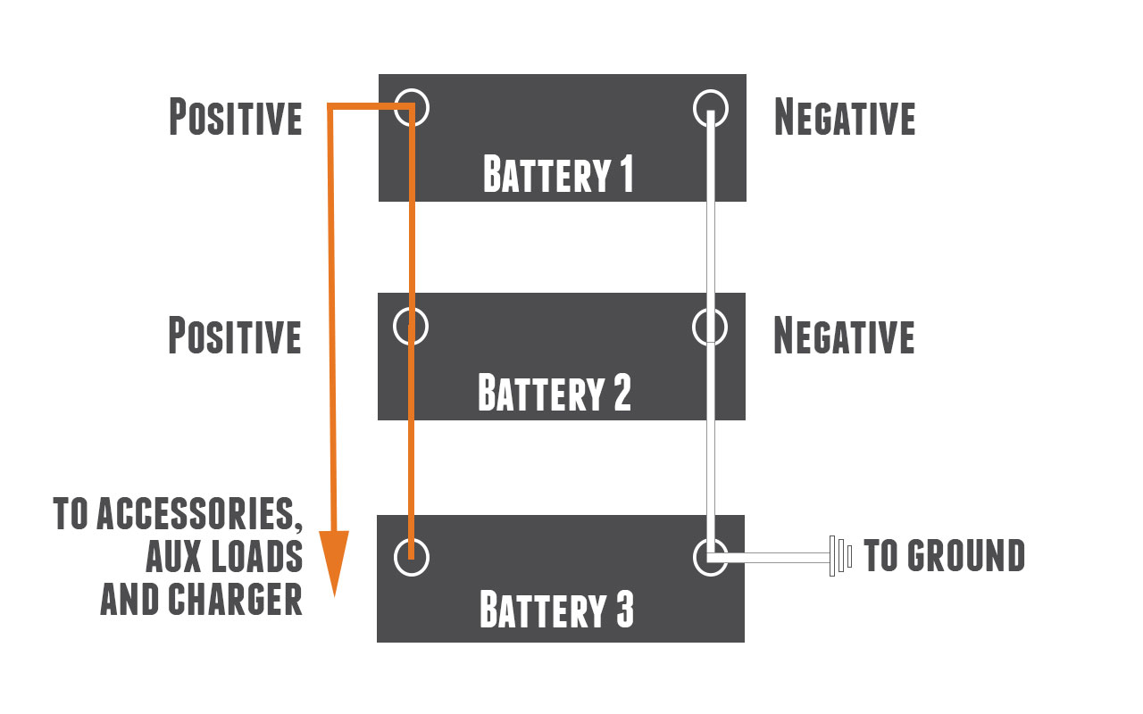 How to parallel batteries