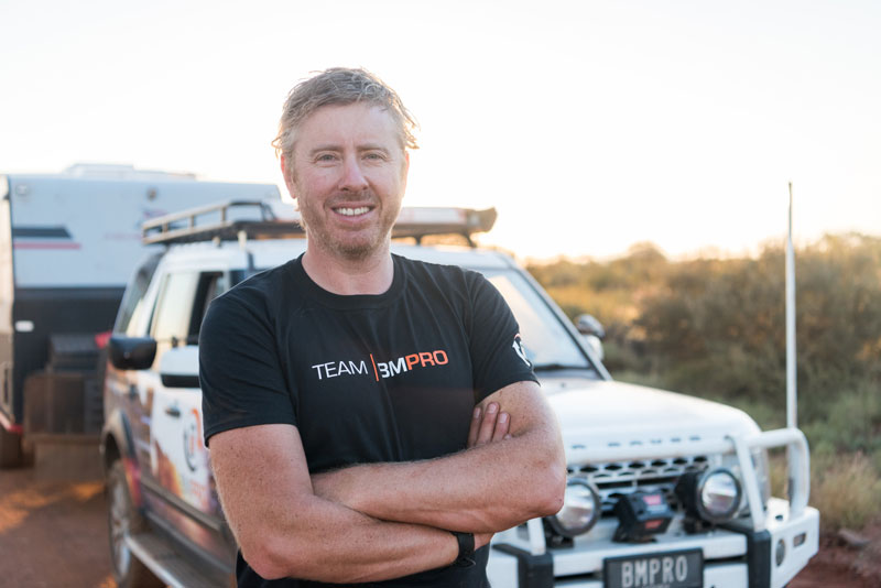 BMPRO brand ambassador David Bayliss on a trip to Karijini National Park